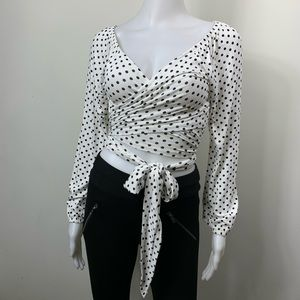 Crop top long sleeve blouse size S